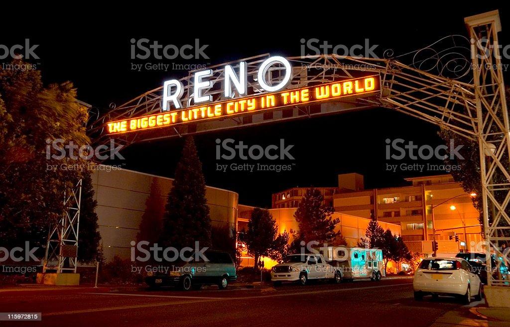 Reno Neon Sign stock photo