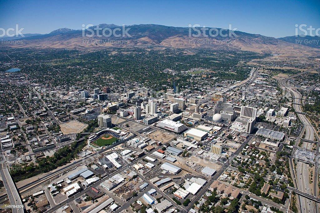 Reno Nevada Aerial stock photo