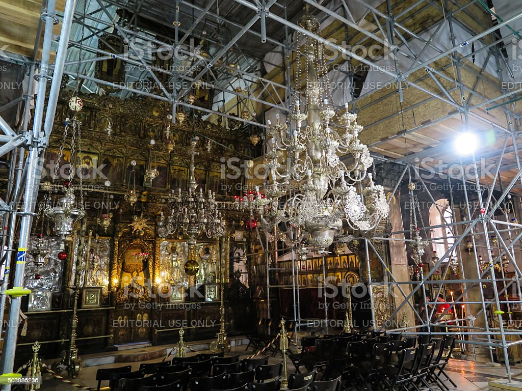 Renovated Church of the Nativity of Jesus Christ,  Bethlehem, stock photo
