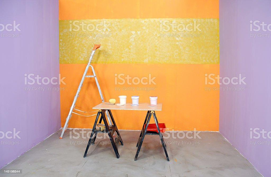 renovating a room royalty-free stock photo