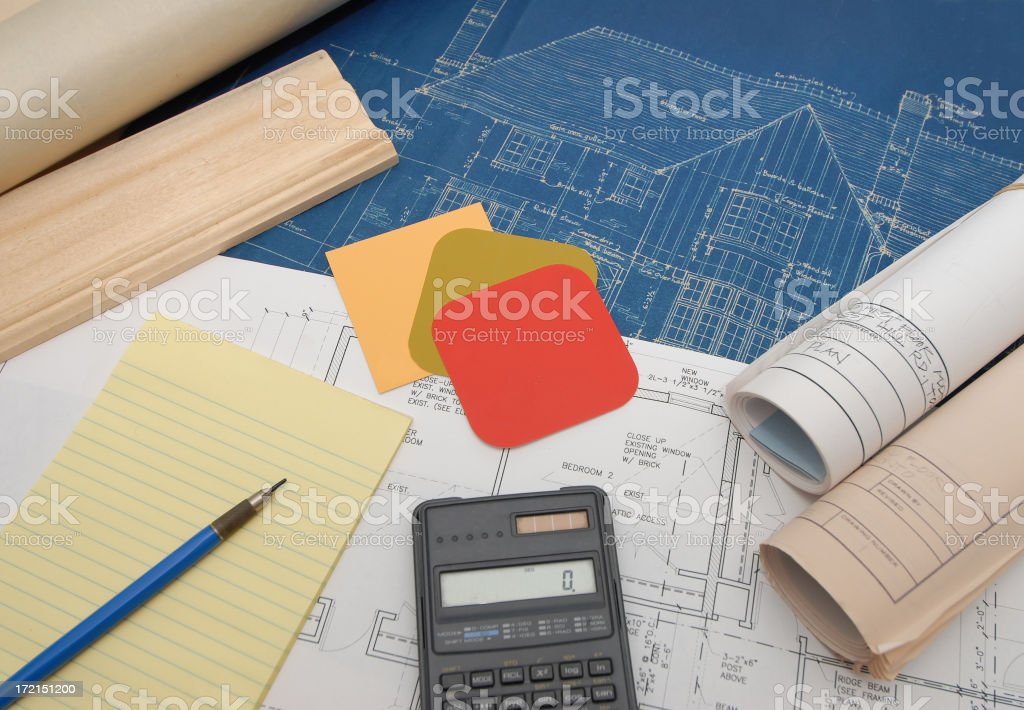 renovation cost estimate royalty-free stock photo