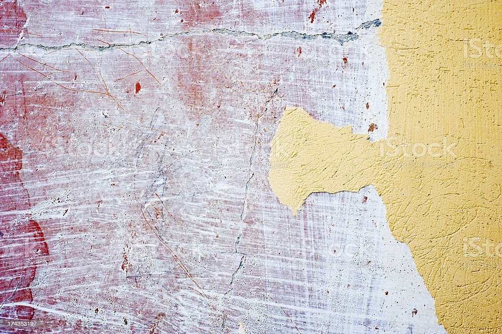 Renovation of an old and dirty wall royalty-free stock photo