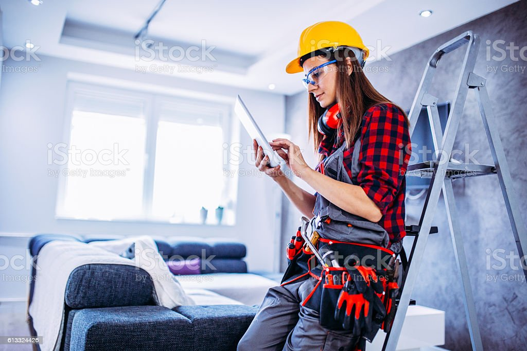 Renovation work will be modern stock photo