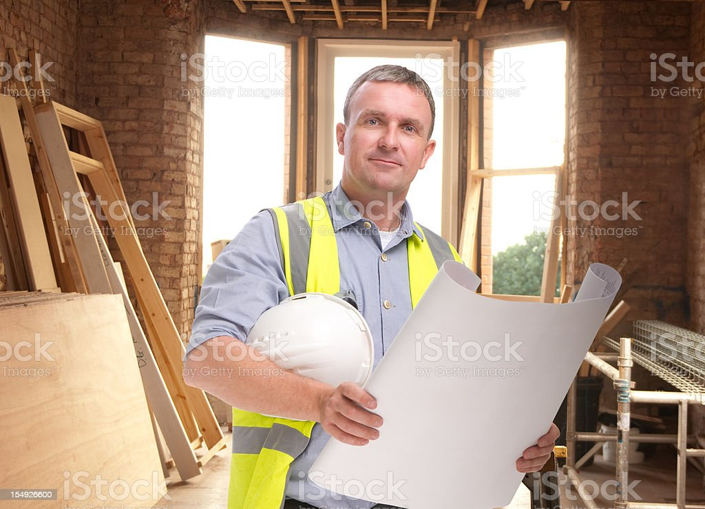 renovation worker royalty-free stock photo