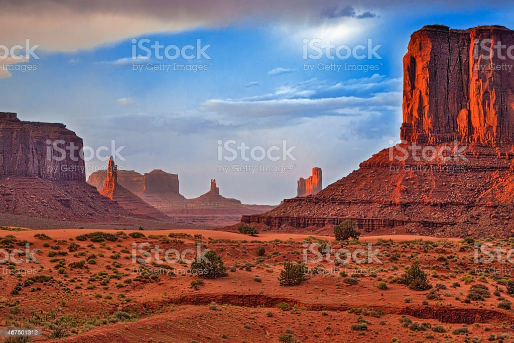 Renowned Buttes of Monument Valley stock photo