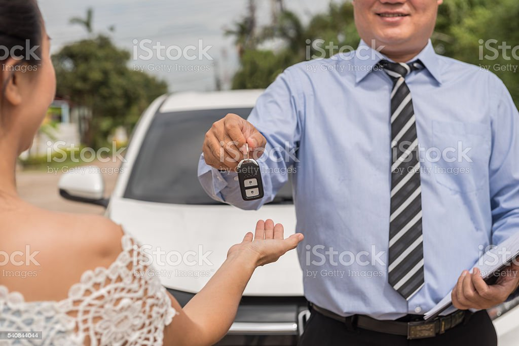 rent a car stock photo