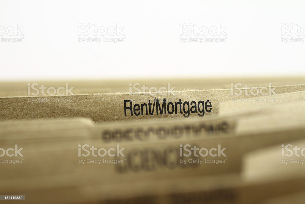 Rent Mortgage Filing royalty-free stock photo