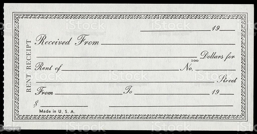 Rent Receipt stock photo 171292873 – Where Can I Buy Rent Receipts