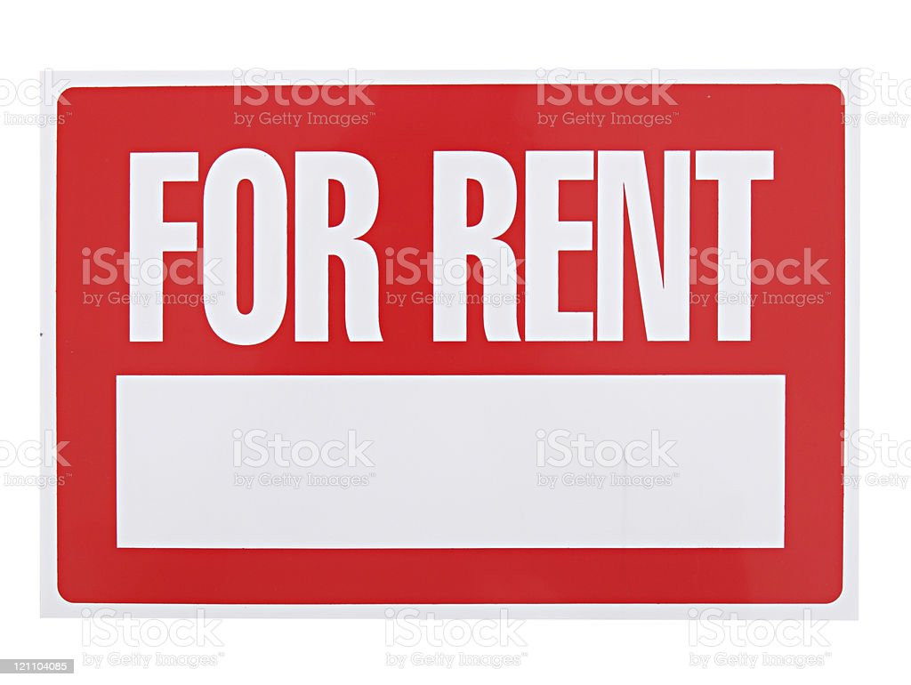 Rent Sign stock photo