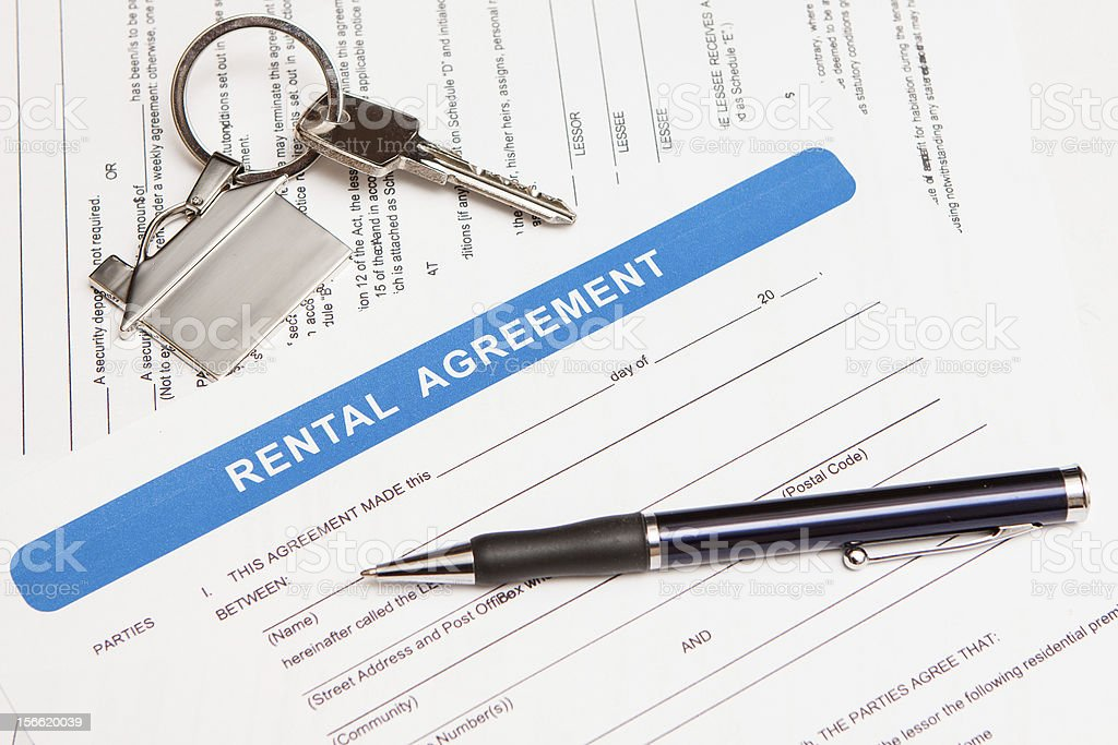 rental agreement form royalty-free stock photo
