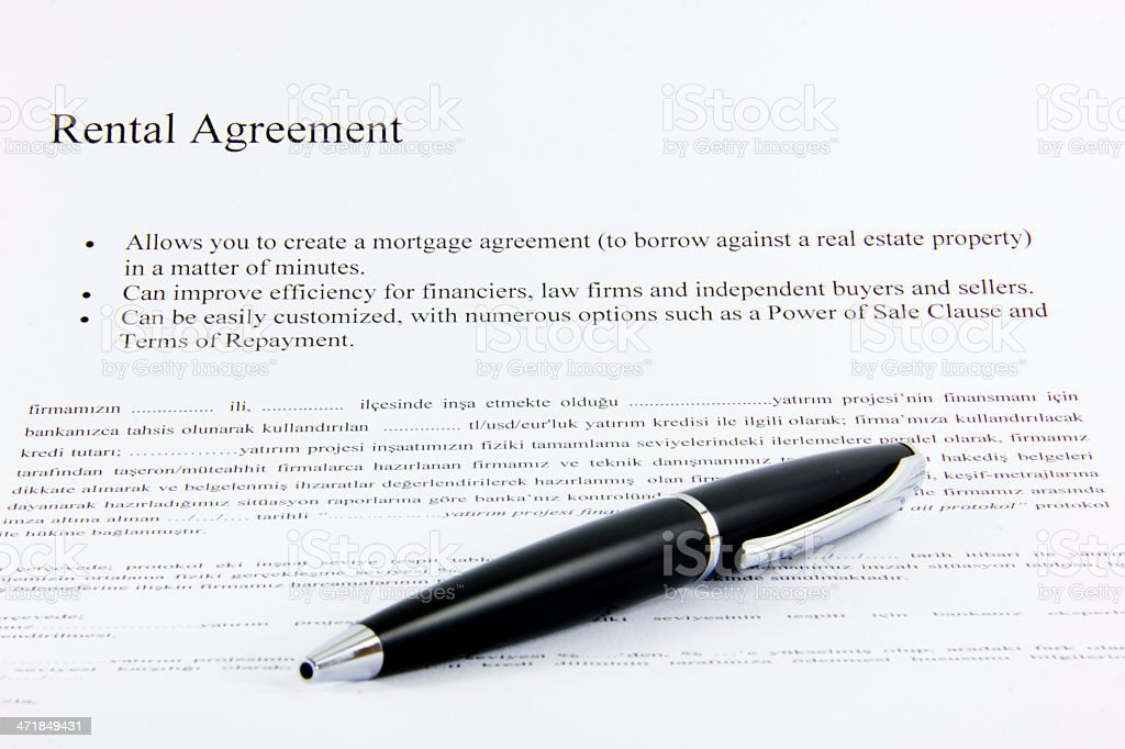 rental agreement royalty-free stock photo