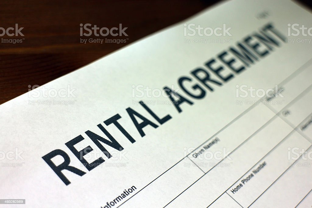 Rental Agreement royalty-free stock photo