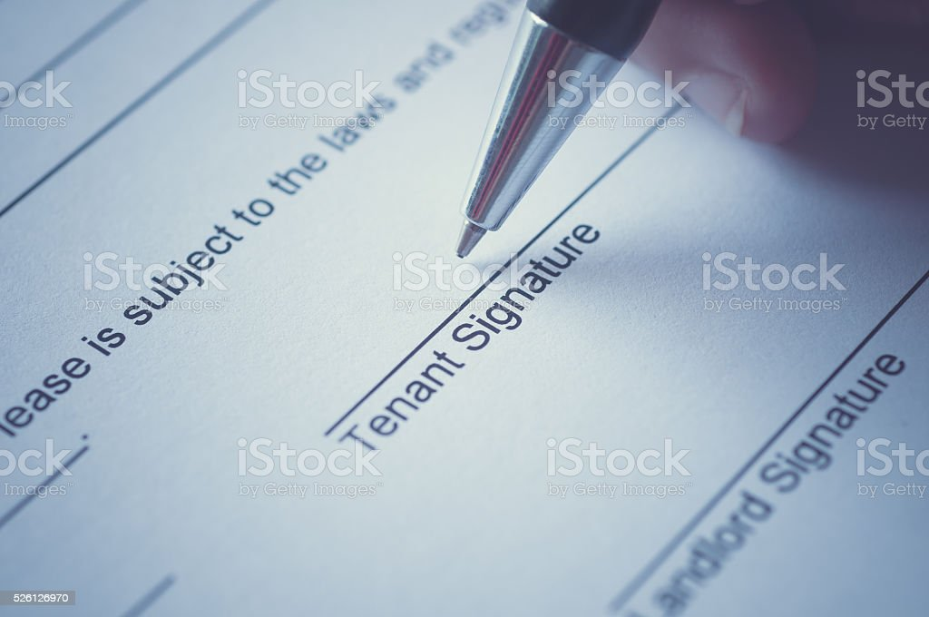 Rental agreement stock photo