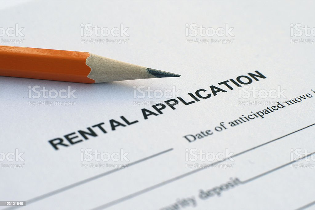 rental application royalty-free stock photo