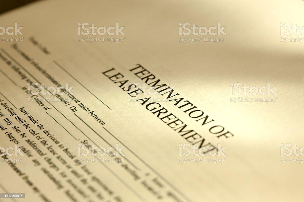Rental Contract stock photo