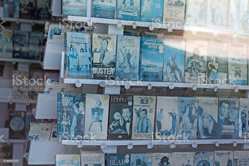 VHS Rental Display stock photo