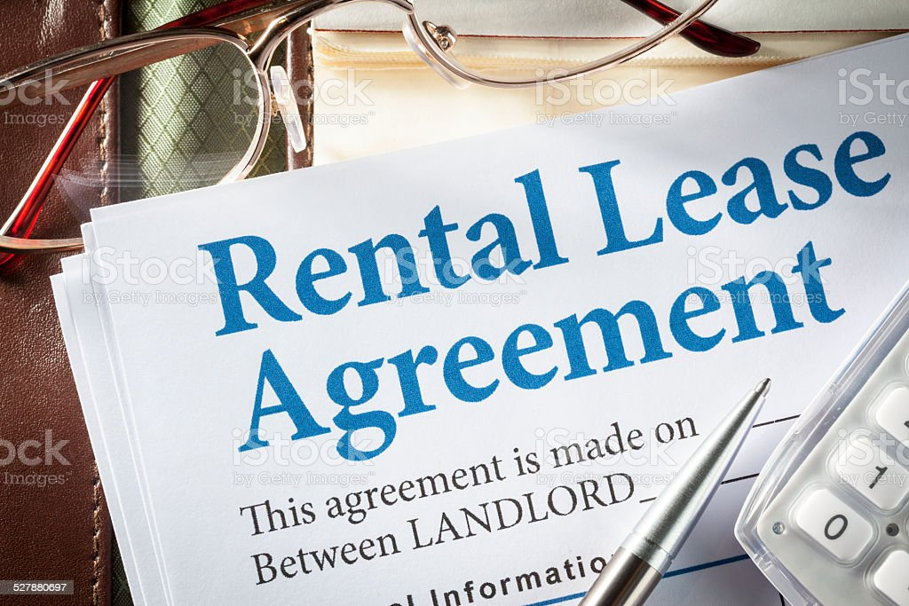 Rental Lease agreement stock photo