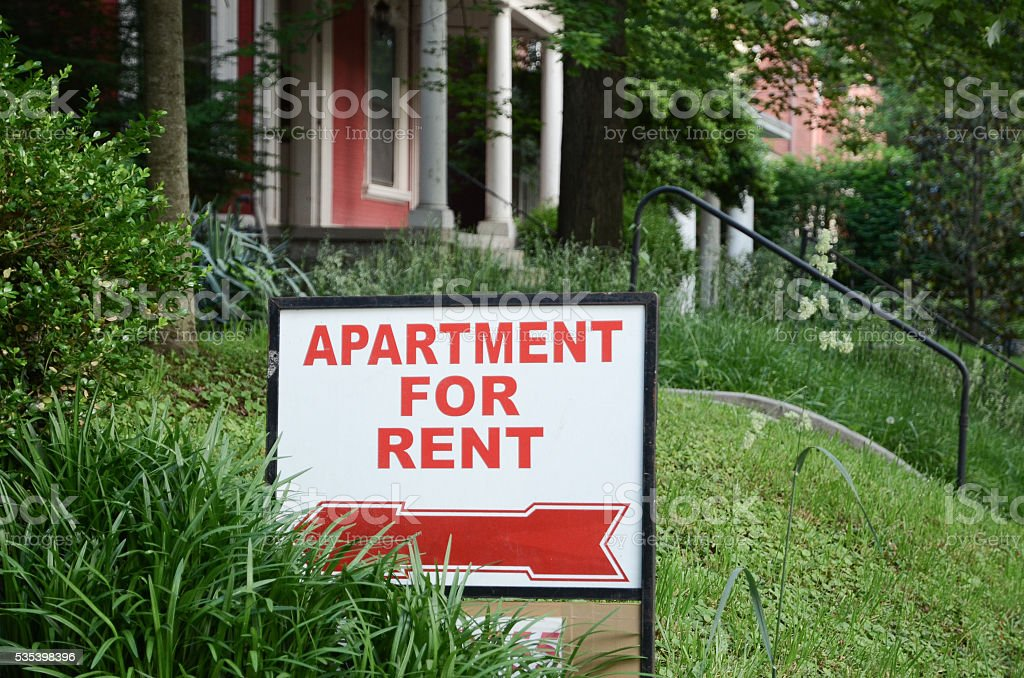 Rental Sign stock photo