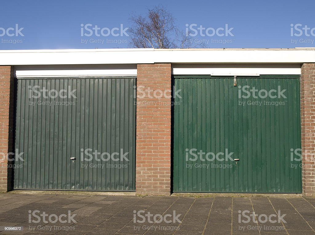 rental warehouses royalty-free stock photo