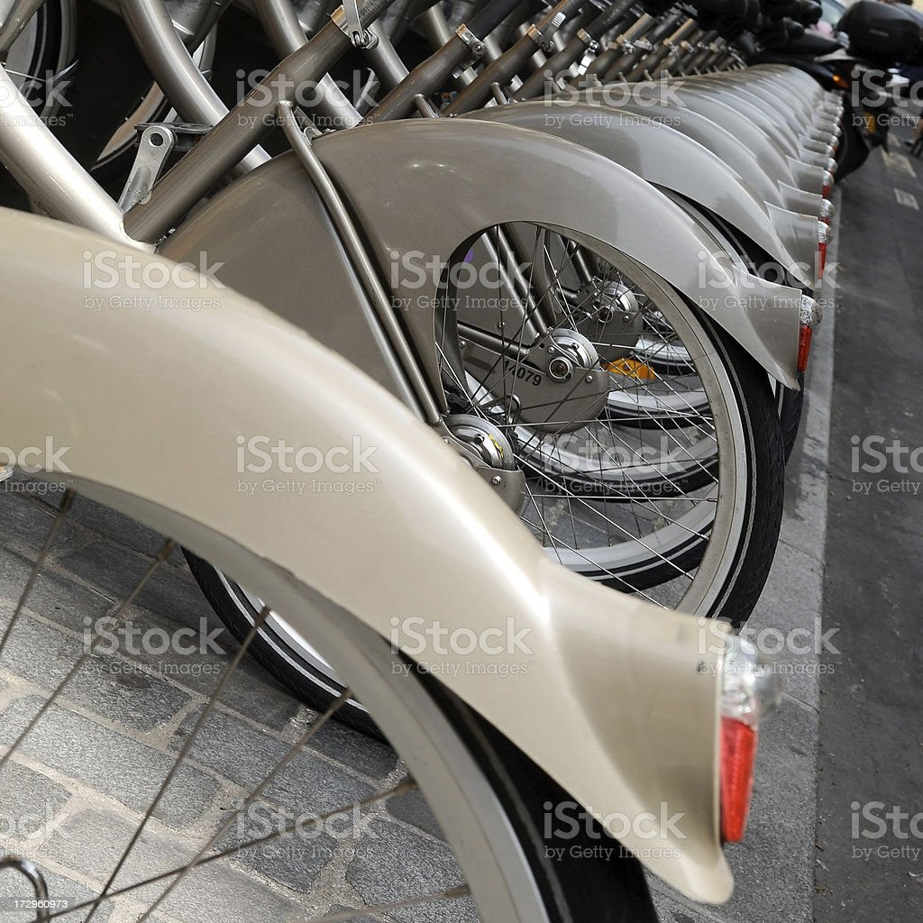 renting a bike royalty-free stock photo