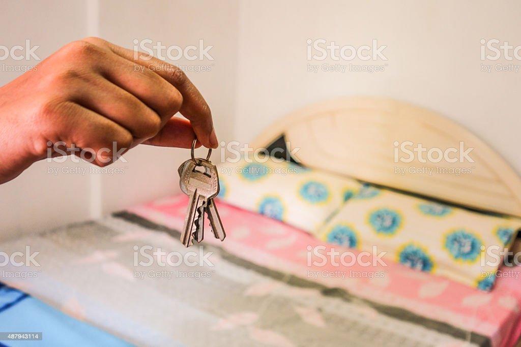Renting room stock photo