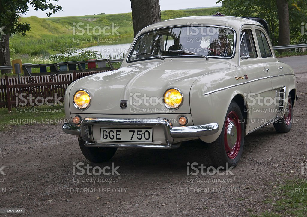 Renult R1090 Dauphine from 1962 stock photo