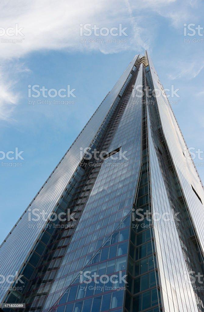 Renzo Piano's skyscraper The Shard in London royalty-free stock photo