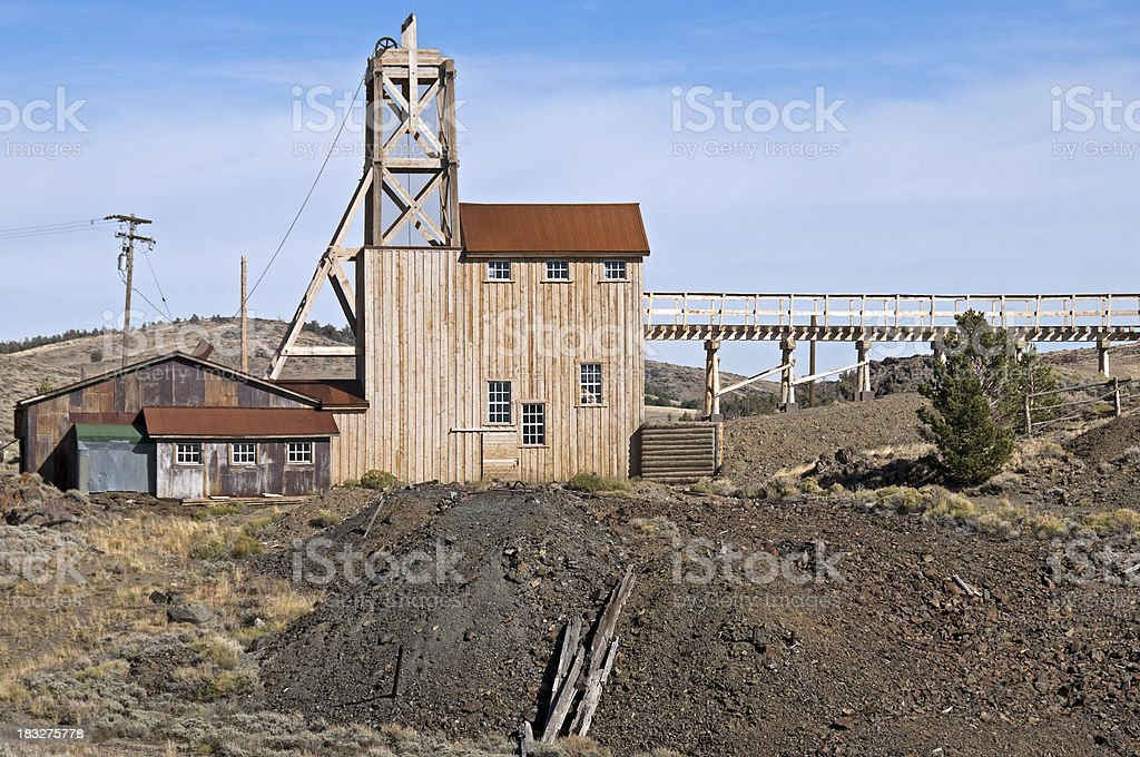 Re-opened gold mine in Wyoming stock photo