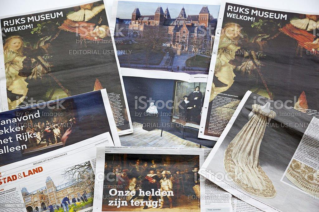 Reopening Rijksmuseum Amsterdam royalty-free stock photo