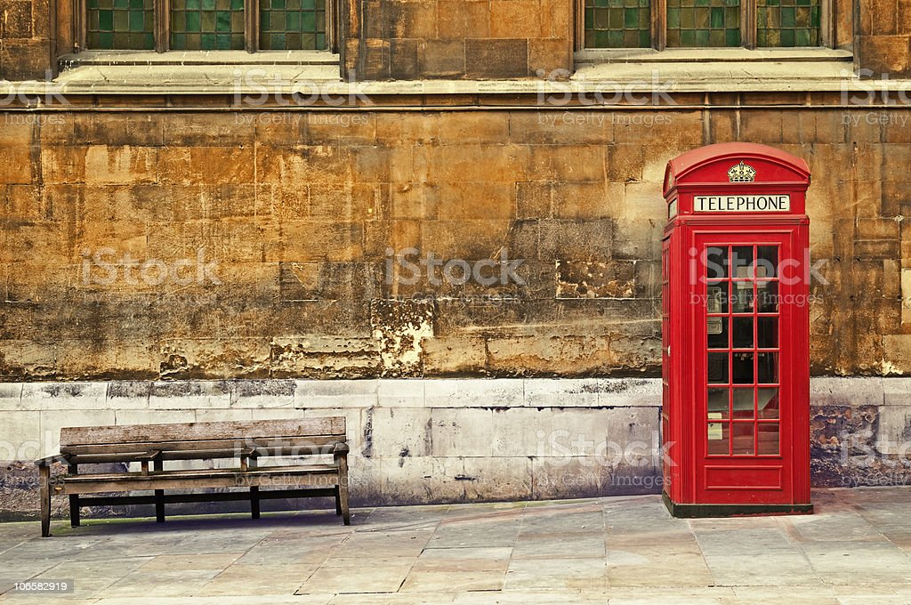 Rep Phone Box, London. stock photo