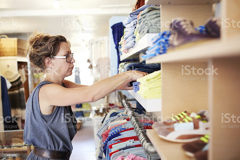 Repacking her stock royalty-free stock photo
