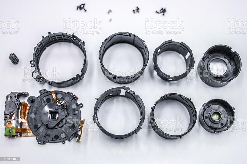 Repair a lens stock photo