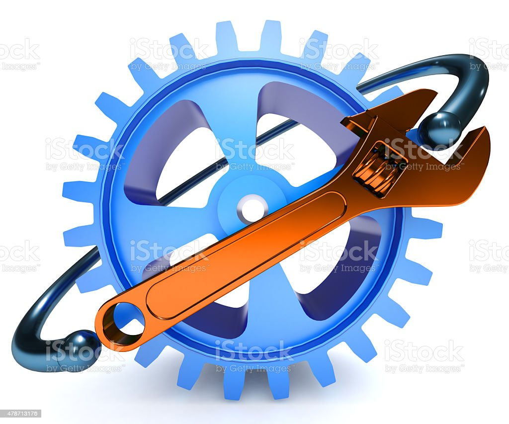 Repair, adjustment and tuning service icon stock photo
