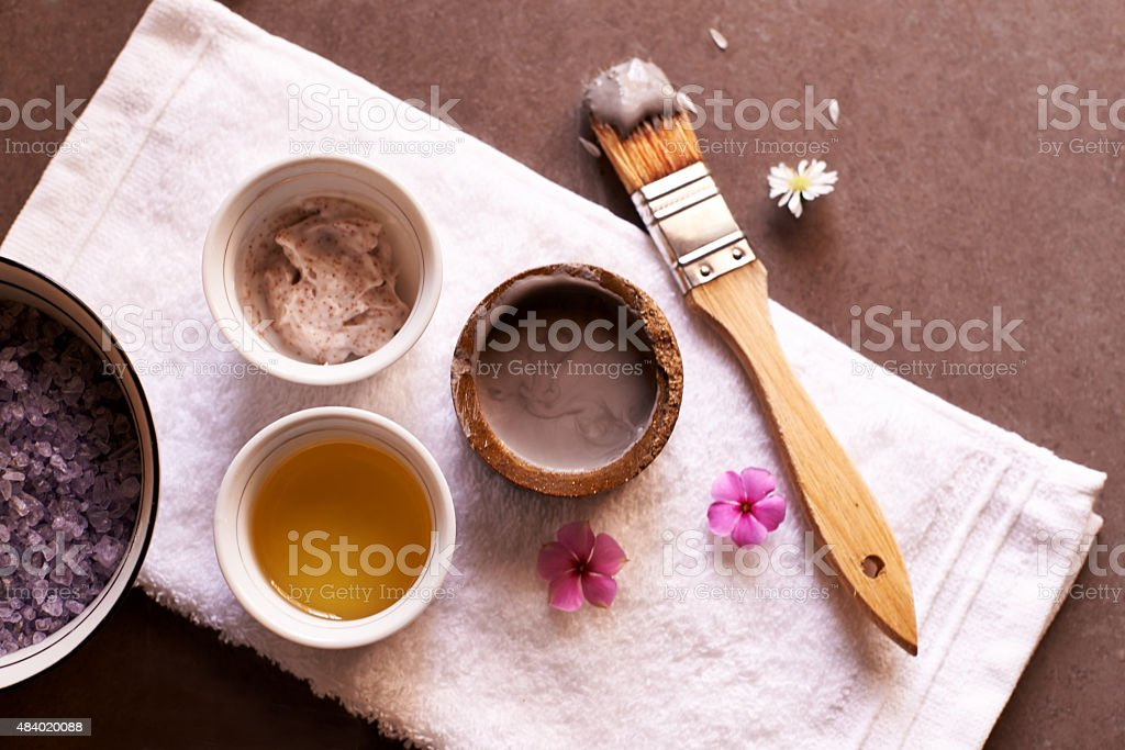 Repair and rejuvenate your skin naturally stock photo