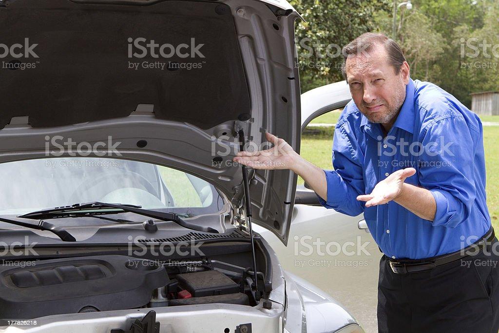Repair Broken Car royalty-free stock photo