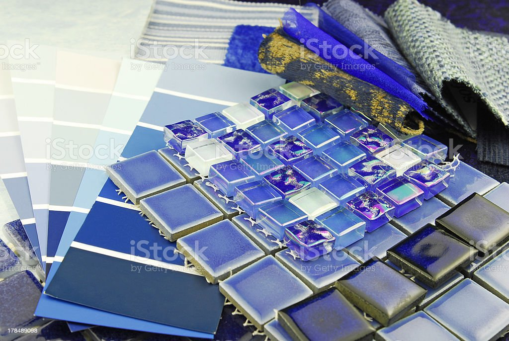 repair decoration planning upholstery  tapestry color selection royalty-free stock photo