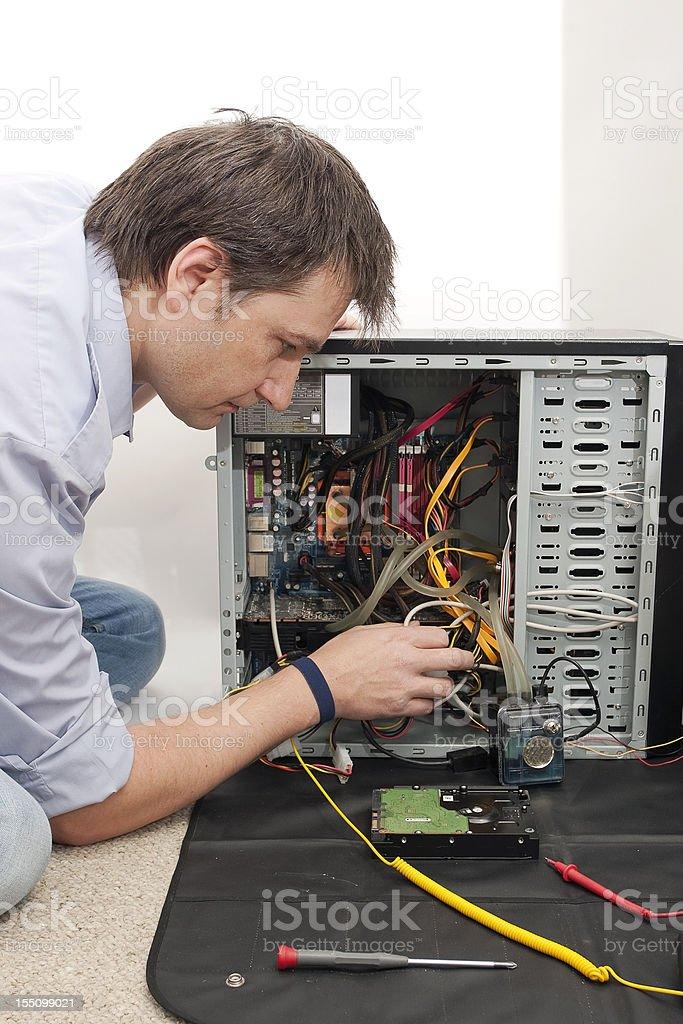PC Repair Guy stock photo