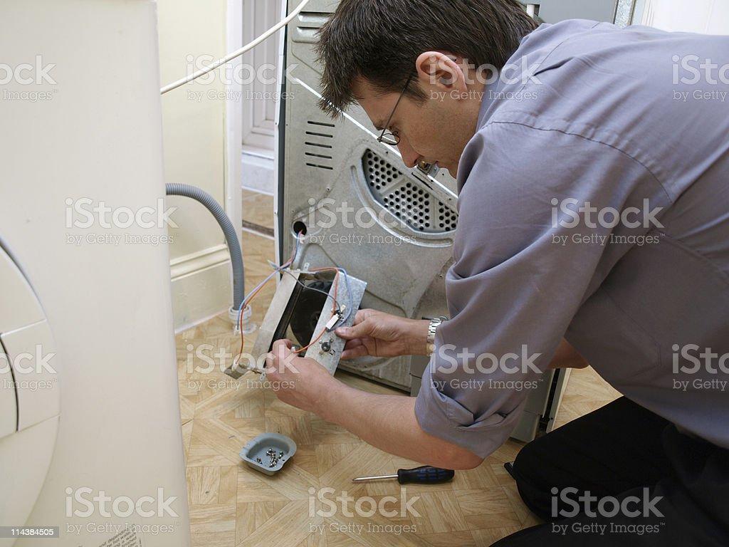 Repair man stock photo