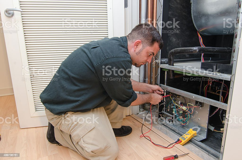 AC Repair Man stock photo