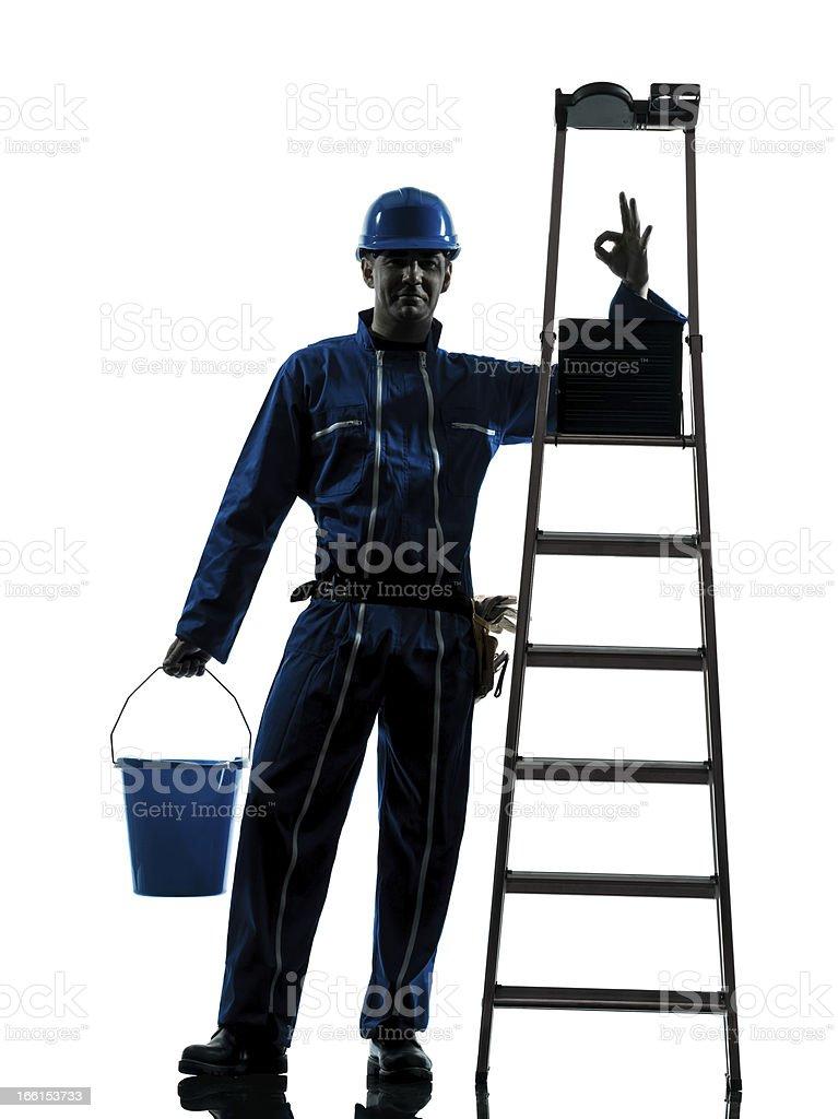 repair man worker silhouette royalty-free stock photo