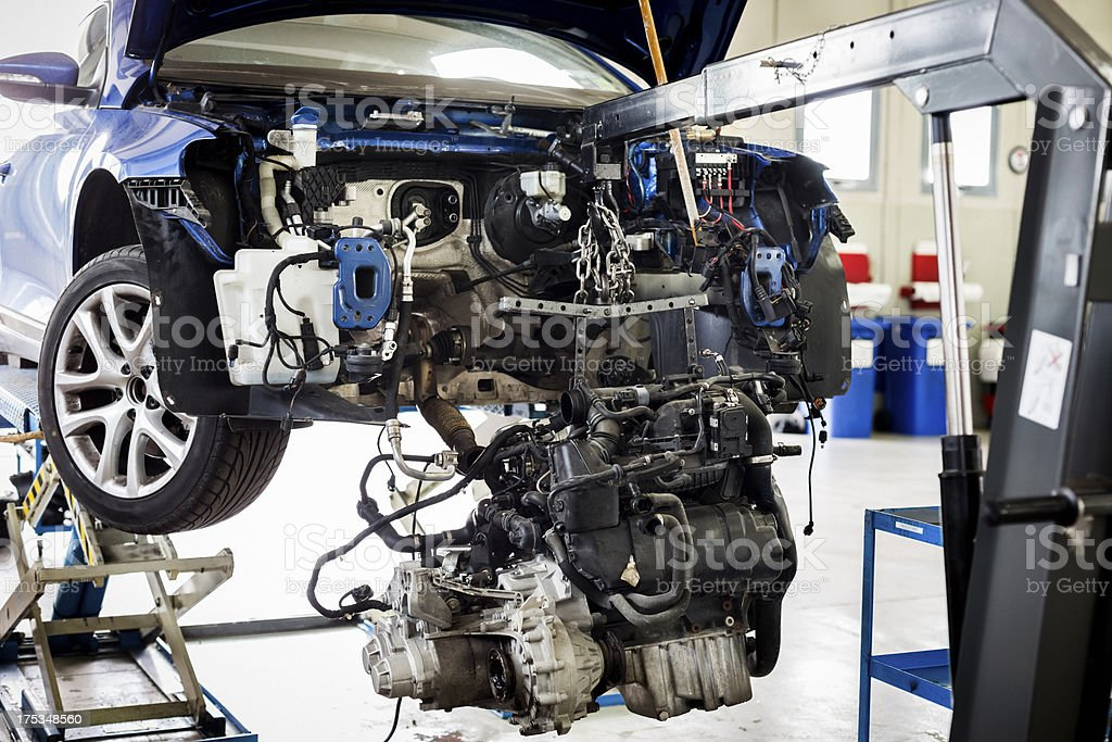 Repair of a car engine royalty-free stock photo