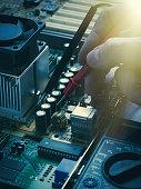 Repair of computer board soldering
