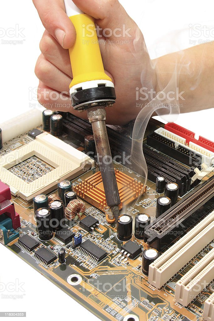 repair of motherboard royalty-free stock photo