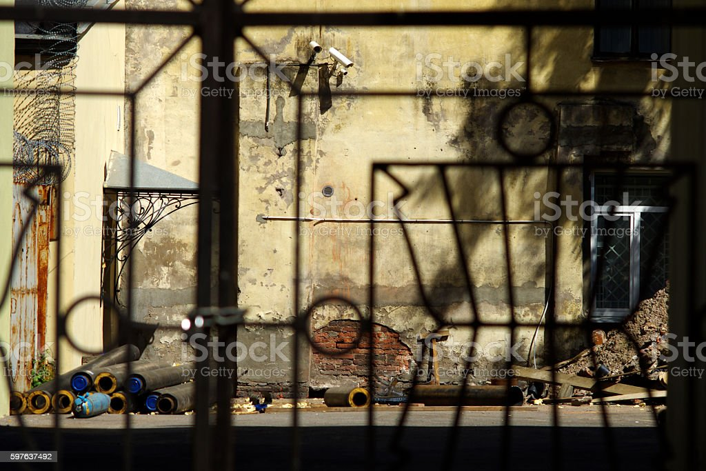 Repair of old building stock photo