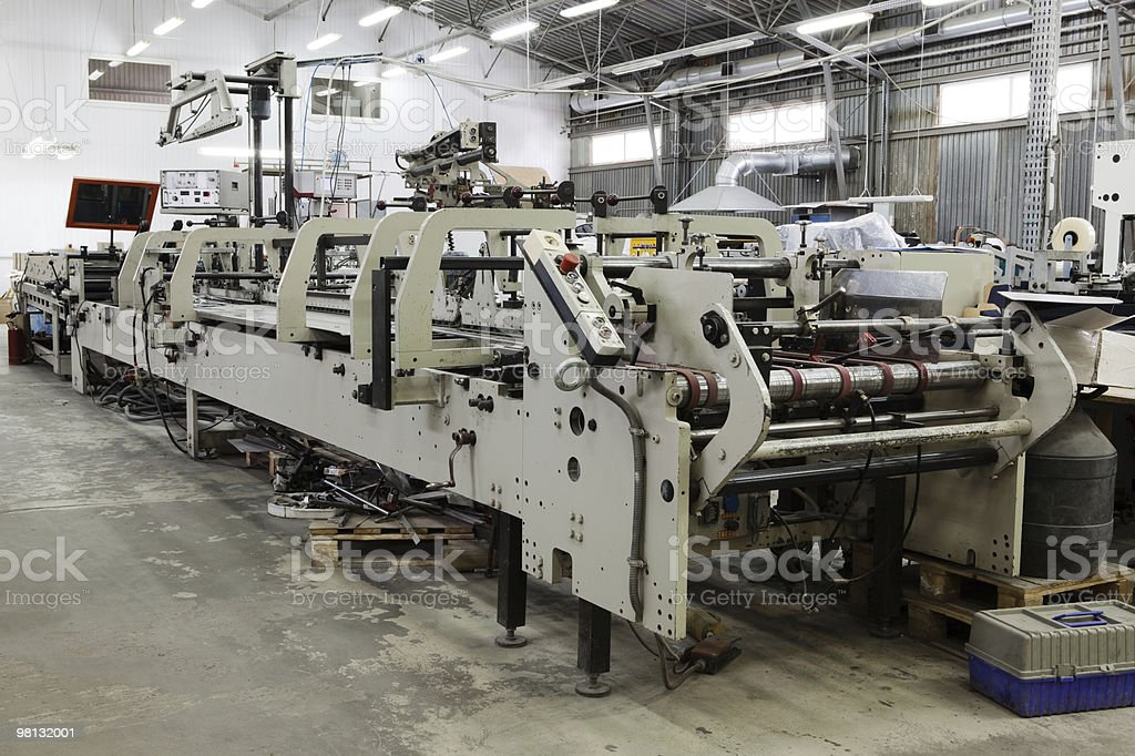 repair of old printing equipment royalty-free stock photo