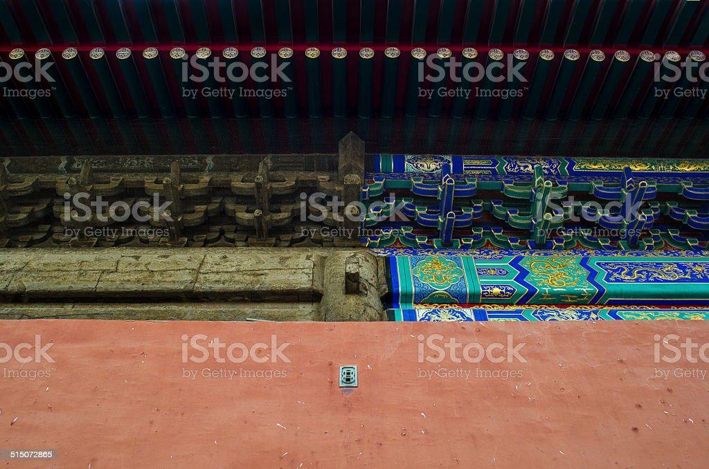 Reparo do edifício tradicional chinesa foto royalty-free