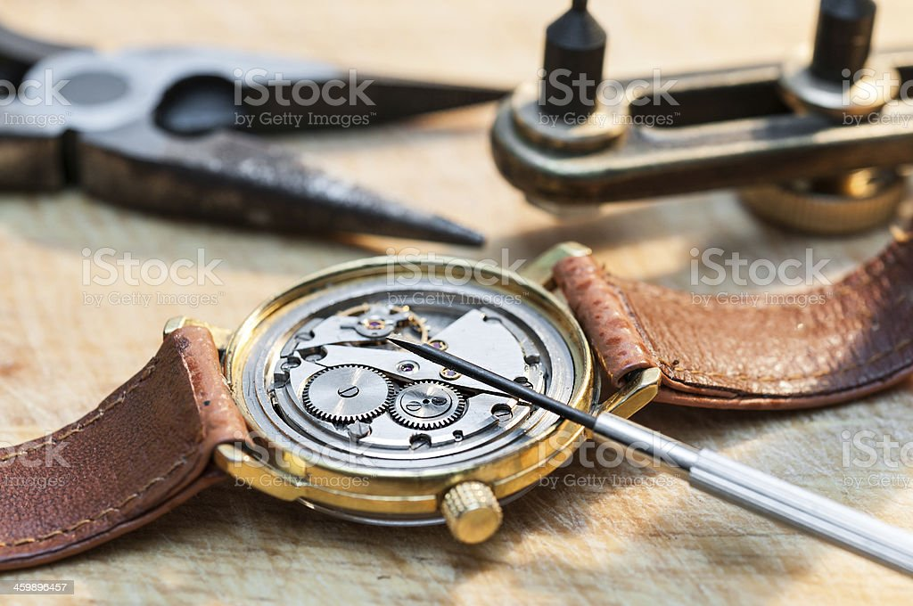 Repair of watches royalty-free stock photo
