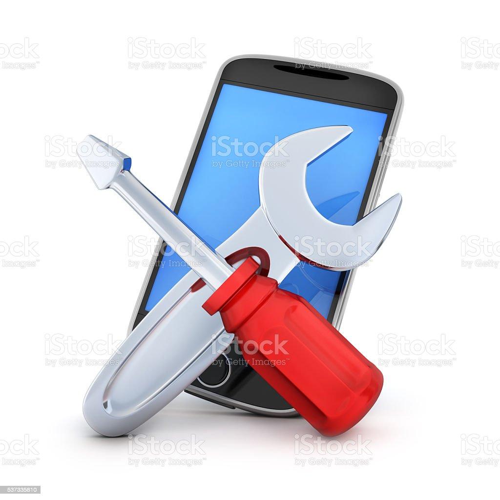 PDA repair stock photo