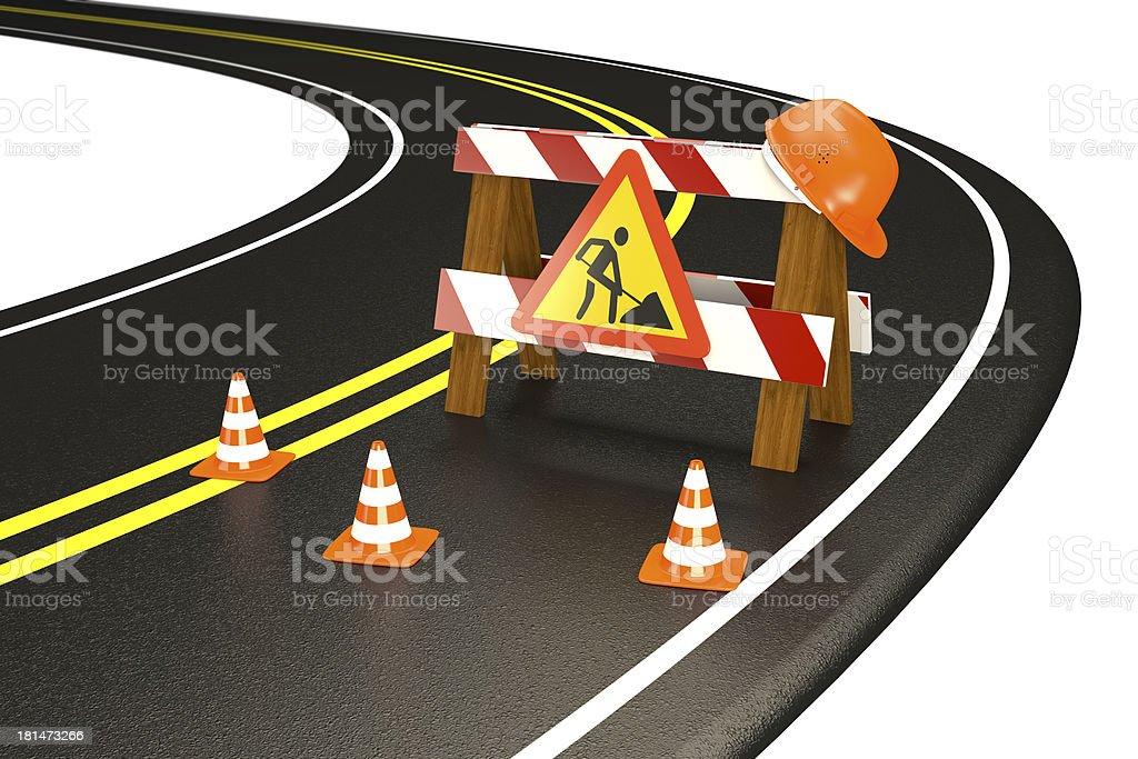 Repair road stock photo