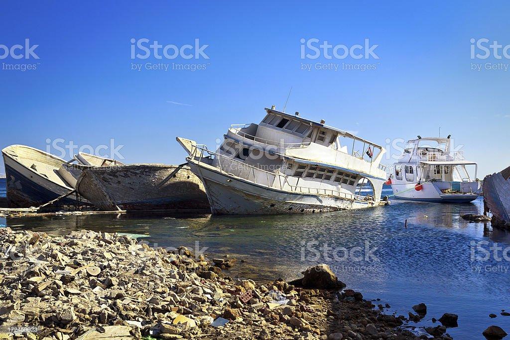 Repair shipyard, Hurghada, Egypt royalty-free stock photo